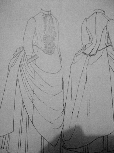 1887-9 day dress from the V&A featured in Janet Arnold's Patterns of Fashion