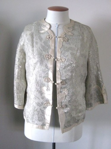 Jacket, silk & lamé, mid-20th century, made in Hong Kong (probably)