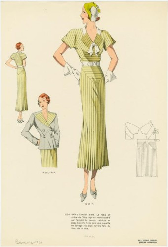 Les grands modèles, 1934, crepe de chine dress, NYPL