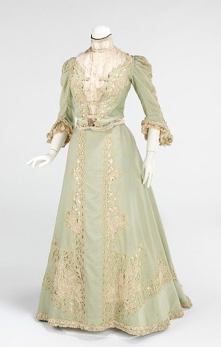 Promenade dress, ca. 1903, American, wool, silk, Metropolitan Museum of Art