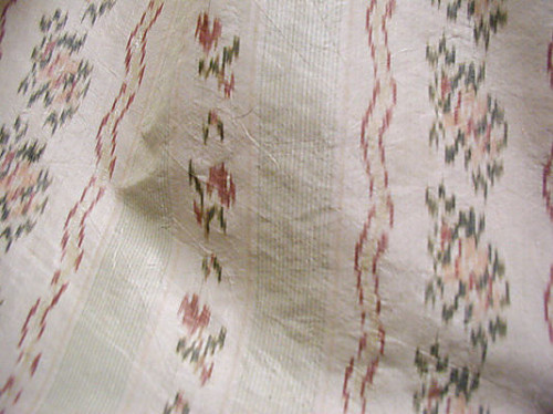 Robe à la Polonaise (detail) ca. 1780, British, silk, Metropolitan Museum of Art 1981.245.2