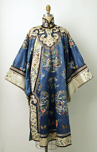 Robe, late 19th century, Chinese, silk, metal, Metropolitan Museum of Art