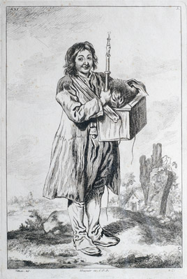 Savoyarde with a marmotte, after Watteau  François Boucher