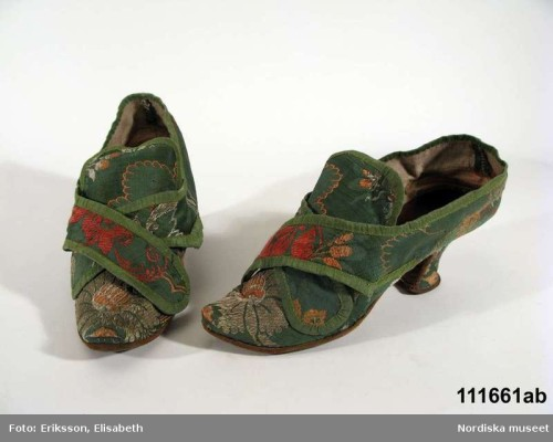 Shoes, 18th century, Nordiska Museet