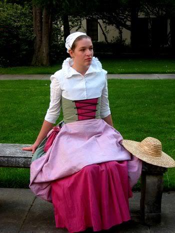 Mid-16th century Flemish workingwomans dress