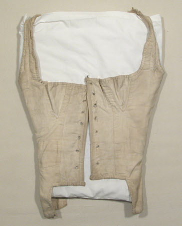Corset Bodice, 1800-1820, cotton, National Trust Inventory Number 1350127