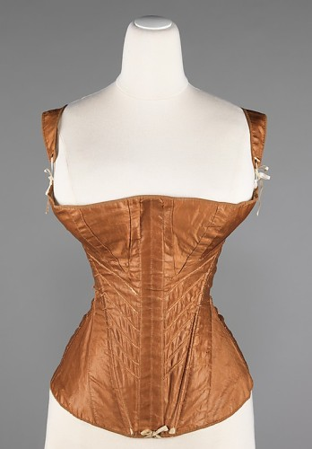 Corset, 1830–35, American  cotton, bone, metal, Brooklyn Museum Costume Collection at The Metropolitan Museum of Art 2009.300.3031