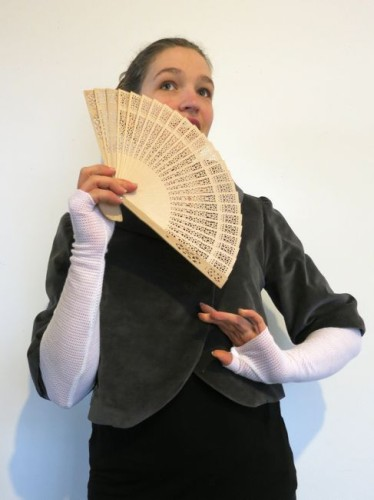 Regency inspired knit mitts/sleeves and the Queen Celeste Roll-Collar jacket thedreamstress.com