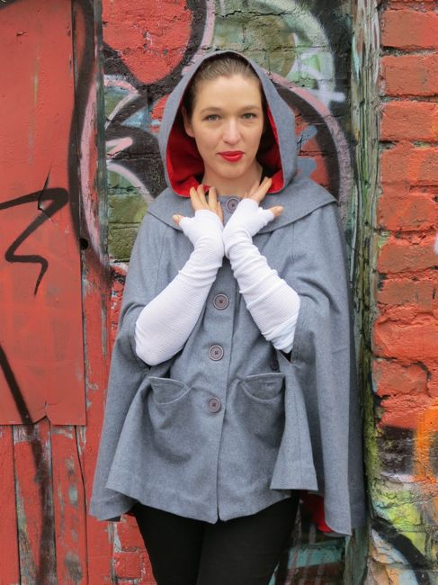 Modern Red Riding Hood cape thedreamstress.com