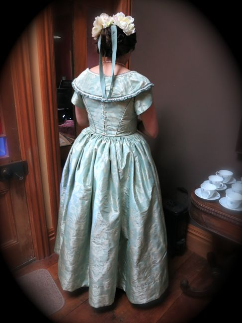 1840s inspired evening dress thedreamstress.com