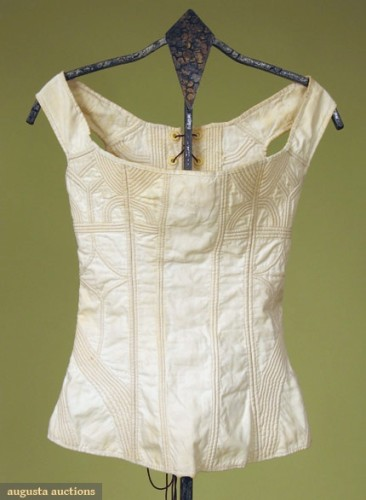 Corded corset, 1800-1825, Lot- 578 October 2007, Vintage Clothing & Textile Auction New