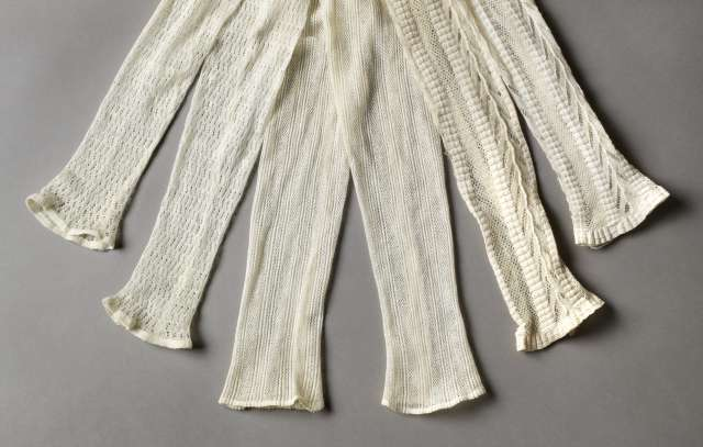 Knitted sleeves, 1800s, Nordiska Museetsr