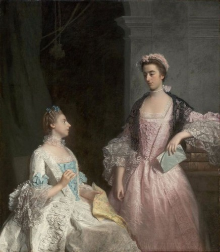 Portrait of Mrs. Laura Keppel and her Sister Charlotte, Lady Huntingtower (1765). Allan Ramsay (Scottish, 1713-1784). Oil on canvas. Museum of Fine Arts, Boston