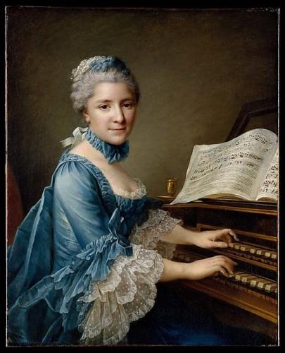 Portrait of a Woman, Said to be Madame Charles Simon Favart (Marie Justine Benoîte Duronceray, 1727–1772) François Hubert Drouais  (French, Paris 1727–1775 Paris), 1757, Oil on canvas, Metropolitan Museum of Art
