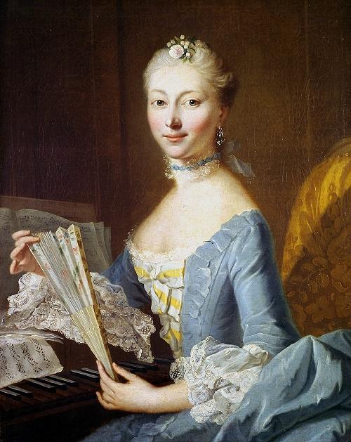 An Unknown Lady at the Spinett, Johann Heinrich Tischbein d.Ä. (1753)