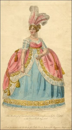 The Marchioness of Townshend in court dress, La Belle Assemblee, 1806