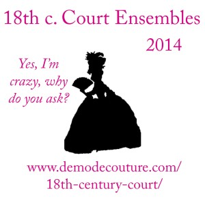 18th c court ensembles demode