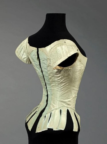 Court bodice associated with Marie Antoinette ca. 1780-87, from the Musee Galliera