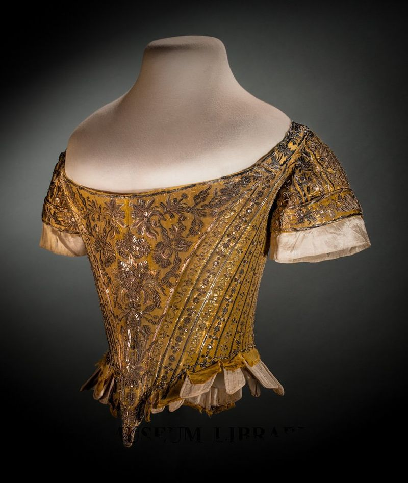 Court Bodice, 1761, Helen Larson Historic Fashion Collection, FIDM