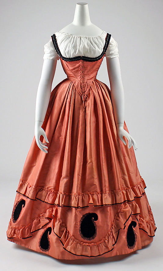 Dress, 1860–63, American, Metropolitan Museum of Art C.I.42.76.1ab