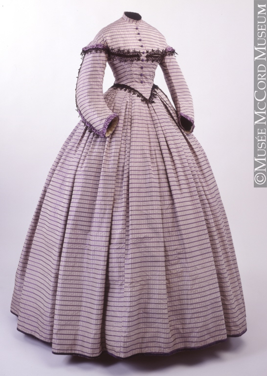 Dress, 1862-1864, Musee McCord, M965.112.1.1-2