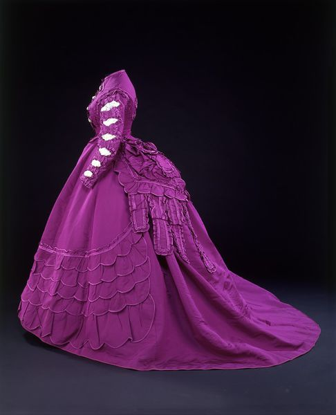 Dress, Paris, France, 1869-1870, Vignon, Ribbed silk trimmed with satin, faced with cotton, brass, Victoria & Albert Museum, T.118 to D-1979