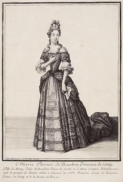 Engraving of Marie Thérèse de Bourbon by Henri Bonnart, c.1690