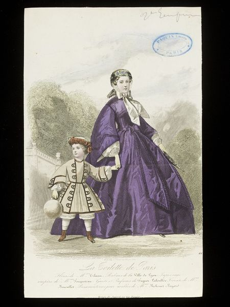 Fashion plate showing the fad for aniline purple, c.1860, François-Claudius Compte-Calix (artist)  Braequet (engraver), E.22396-330-1957
