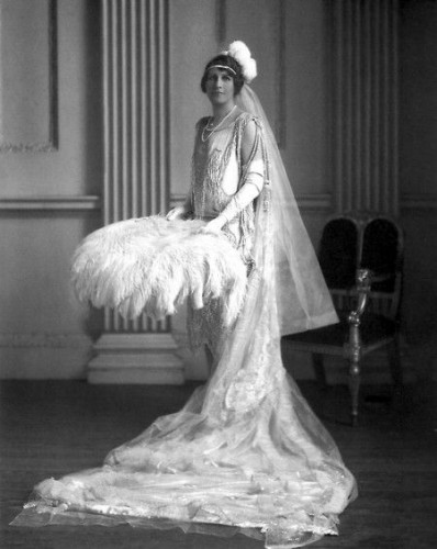 Lady Blades in her court presentation ensemble, 1927, Lafayette Photo Studio