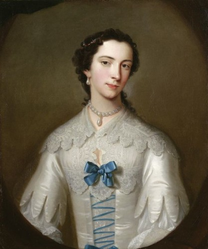 Lady, possibly of the Cholmeley family by Allan Ramsay, ca 1740 UK