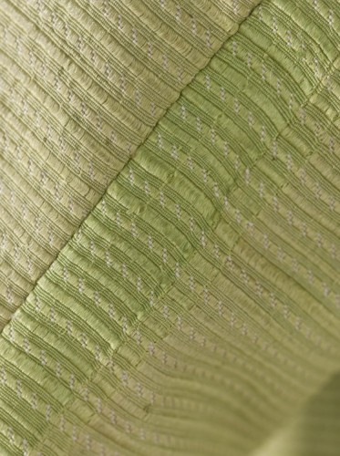 Man's Three-piece Suit (detail of green silk) Italy, probably Venice, circa 1785-1790, LACMA