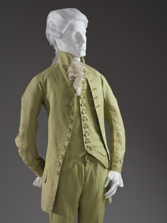 Man's Three-piece Suit worn with matching vest, Italy, probably Venice, circa 1785-1790, LACMA