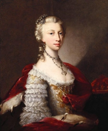 Portrait of a Princess by an unknown German artist, 1740, the Royal Collection, UK