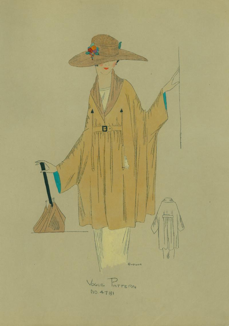 Draped dolman wrap, 1919