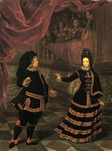 Jan Frans van Douven, Anna Maria Luisa de' Medici dancing with her husband Johann Wilhelm, Elector Palatine (1695)