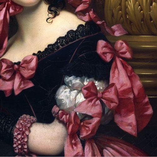 La Vénitienne au bal masqué (detail), by Joseph-Désiré Court, 1837