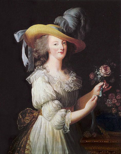 Marie Antoinette in a muslin dress, 1785, Vigee Le Brun
