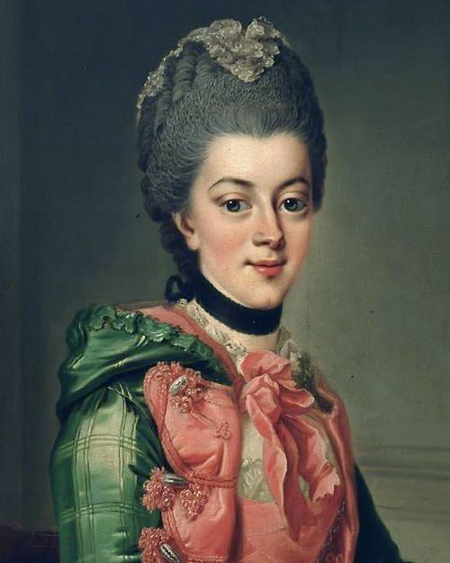 Princess Frederika Sophia Wilhelmina of Orange by Johann Georg Ziesenis, 1768-69