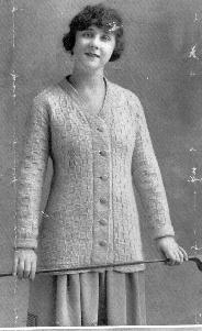 Sweater of Angorina, Star Needlework Journal, 1917