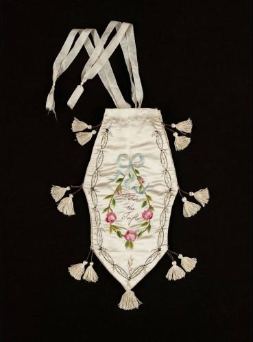 Bag (reticule) English or New England, Early 19th century, MFA Boston 64.692
