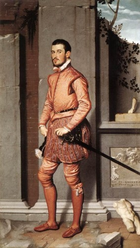The Gentleman in Pink, Giovanni Battista Moroni , 1560