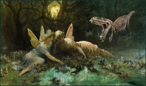 Fairies and Dinosaurs (Gustave Dore) thedreamstress.com