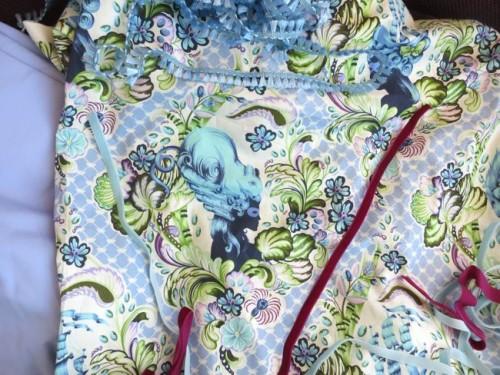 1770s Masquerade Stays progress thedreamstress.com