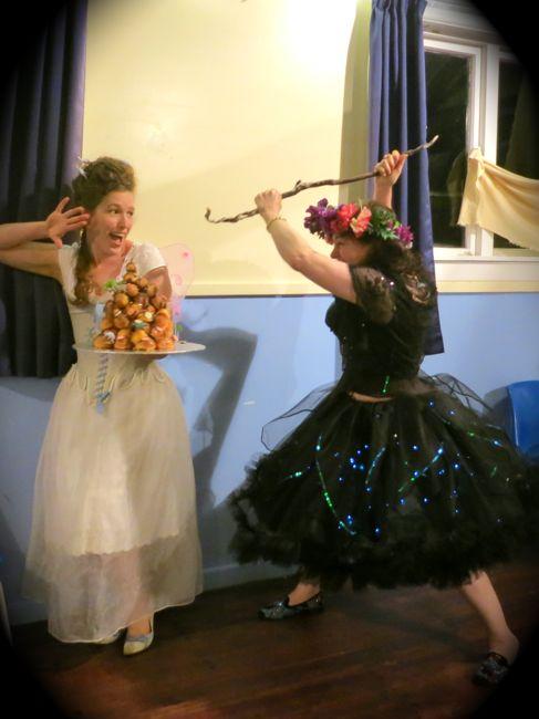 Fairy & Dinosaur Crouquembouche thedreamstress.com