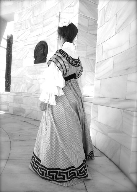 The 1905 Greek Key reception dress, thedreamstress.com