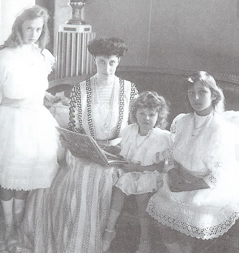 Princess Ingeborg of Denmark with her 3 daughters