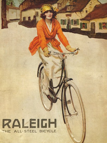 Raleigh bicycle poster 19teens