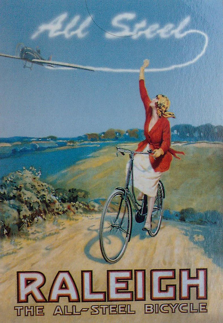 Raleigh bicycle poster early 1920s