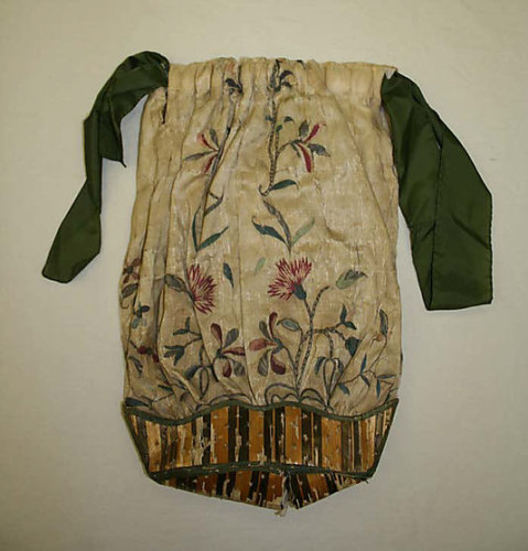 Reticule, 18th century, British, silk, straw,  Metropolitan Museum of Art, 13.49.14