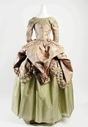 Robe a la polonaise, 1778–80, French, silk, Metropolitan Museum of Art, C.I.60.40.3a, b